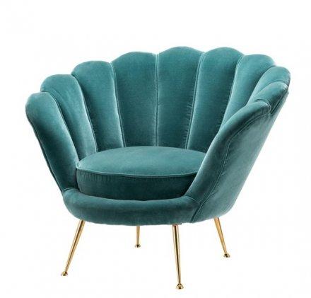 Art Deco Blue Lounge Chair